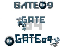 Gate09 Character Logo by flashmind