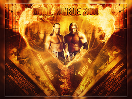 HHH vs HBK 2004 ~ Royal Rumble PPV by MhMd-Batista