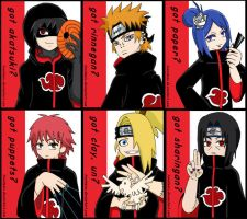 Badges: Akatsuki by ToonTwins