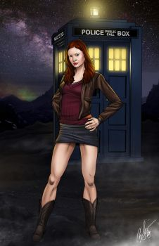 Amy Pond Pin-Up by ArtDevil313