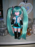 Living Dead Dolls Miku Hatsune Vocaloid Custom by Fuzzkin-Panda