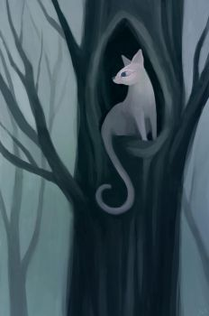 Ghostcat by Whimsnicole