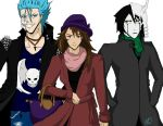 Grimmjow Ulquiorra and Fangirl by nuriamoon
