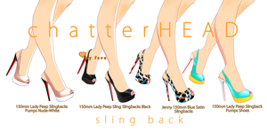 Christian Louboutin MMD sling back Pumps by chatterHEAD