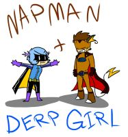 Napman and Derpgirl by LittleFrost