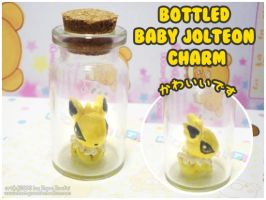 Bottled Baby Jolteon by MoogleGurl