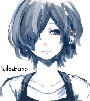 Tokyo Ghoul :re-Touka Render by TutosBuho by TutosBuho