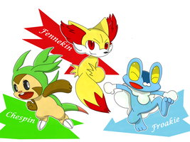 Generation Six Starters by DestinyFox