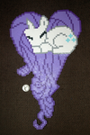 Rarity heart perler by LillyInverse
