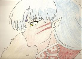 Sesshomaru by InsaneKittyKat