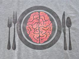 Brains for Dinner Grey by bluffingpots