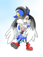 Klonoa and Mary doll playing by DarkColorBlood