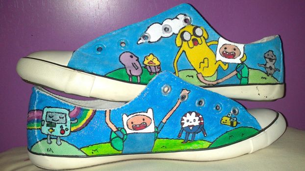 Adventure Time Sneakers by Palou-94