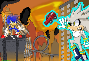 Sonic vs Silver -Request- by xRubiMalonex