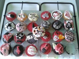 My Chemical Romance Cupcakes ~ by mollytheimmortal