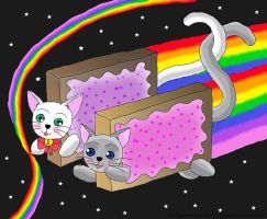 Nyan Cat  love by angela808