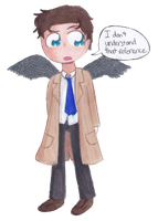 Angel of the Lord, Castiel by timelordponygirl