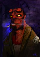 Hellboy fanart by Andy-Butnariu