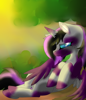 Laying in the Sun by TheDemonAngelWolf