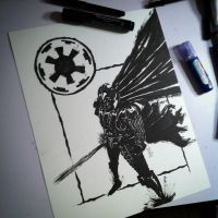Darth Vader_Inktober by bamf27art