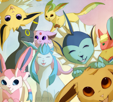 Eeveelution by onzuna