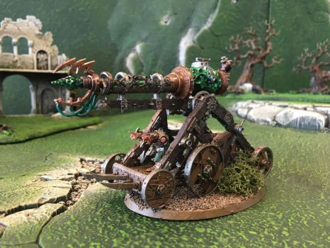 Clan Cherno - Skaven Warp Lightning Cannon by Quiet-Lamp