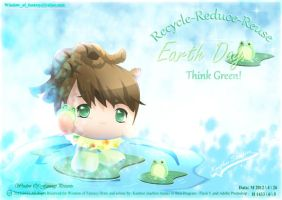 Think Green ! Earth day ! by Kauthar-Sharbini