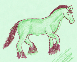 green horse by jessp118