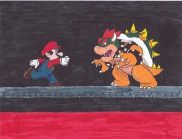 Mario vs. Bowser by KATTALNUVA