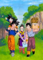 DBZ: Son Family Painting by Risachantag