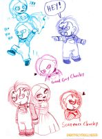 Chucky doodles 8D by Deathlydollies13