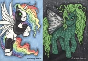 ACEO Ponies by vashley