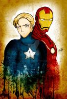 Cap America and Iron Man by Eilyn-Chan