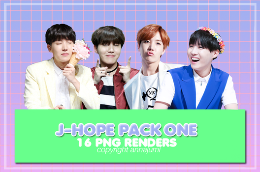 J-Hope pack one (PNG renders) by Annajumi