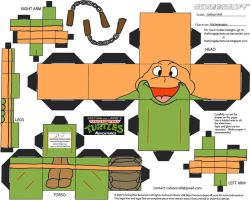 TMNT9: Stump Arena Michelangelo Cubee by TheFlyingDachshund