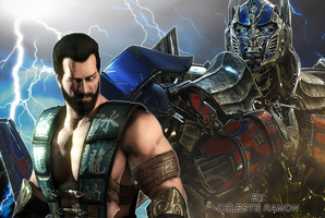 Sub-zero and Optimus Prime by celtakerthebest