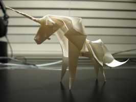 (Yet) Another Origami Unicorn by 50an6xy06r6n