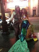 jack sparrow and ariel cosplay by Fantasyaffaire