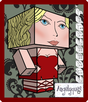Caprica Six Cubeecraft by angelyques
