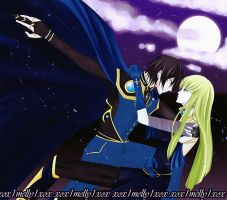 Lelouch and C.C 1 Color by xox1melly1xox