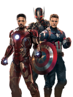 Iron Man, Ultron and Captain America - Render by EversonTomiello