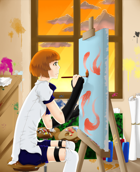 The Painter by Fumikka