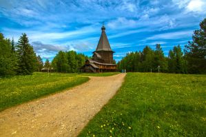 Wooden temple by olgaFI
