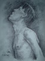 Charcoal Male Nude by birchley