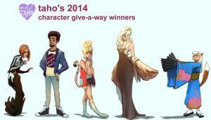 Character Give-A-Way 2014 by taho