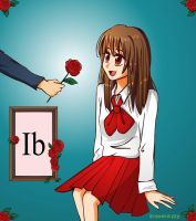 ib-The red rose by Browntaffy