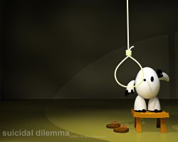 suicidal dilemma - wallpaper by iqbalbaskara