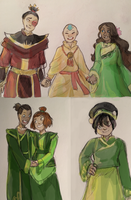 Avatar Sketches with color by aellaeart