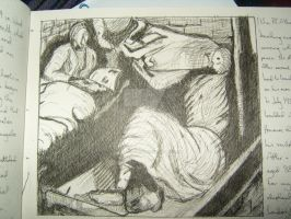 Henry Moore War Drawing Copy by ElectricBlueGee