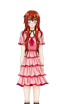 My visual novel MC blushed smile sprite by AgletFreeGirl-25